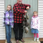 Bob Valcov, granddaughters & Grouse.