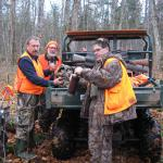 Don Lafleur, Gerald DeMontigny & Keith Clarke on the hunt for moose.