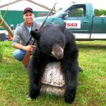 Gregory Valcov with his first Quebec Black Bear.