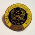 ARGC's 25th Anniversary lapel pin produced in 1984.