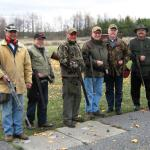 Fred Pratt, Gaston Goulet, Roman Pillwein, Henri Lacasse, Gary Tennison and Bob Valcov at the Connaught shooting range.