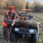 "Bob Valcov: ""A nice young buck and a whitetail."""