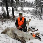 Roman Pillwein with his nice Caribou.