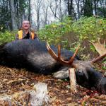 Bob Valcov with Fred's bull.